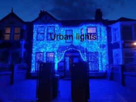 Asian wedding lights hire, outside house lights, Indian wedding lights, marquee hire
