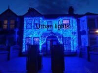 Asian wedding lights hire, outside house lights, Indian wedding lights, marquee hire