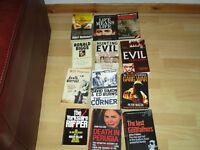 12 True Crime/Thriller Books - £4.00 the Lot for Quick Sale