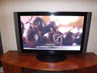 "Hitachi 42"" TV + Sony Surround Sound + JVC Video Tape"