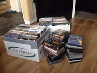188 assorted blu rays, dvds, and boxsets