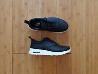 Nike Air Max Thea Premium - Black Leather - UK3