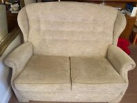 Sofa two seater with a recliner armchair