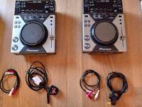 Pair of Pioneer CDJ 400