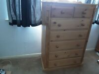 7 Drawer pine unit