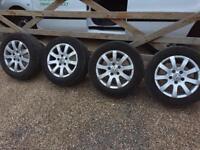 """15"""" 5x112 vw golf caddy van vag alloy wheels with tyres alloys"""