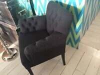 CHIC UPHOLSTERED CHAIR WITH ARM RESTS - TAKING OFFERS - NEVER BEEN USED