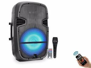 TECHNICAL PRO PW1590LBT 15'' TWO WAY PA DJ SPEAKER WITH USB / SD CARD INPUTS & BLUETOOTH