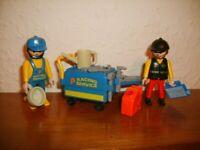 Playmobil 3738 Race Crew - Race Official & Mechanic with Tool Cart