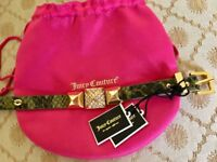 Juicy Couture Leather Bracelet RRP £65 Brand New