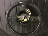 Audi s4 b7 B6 leather steering wheel multifunction paddle shift 2001-2008