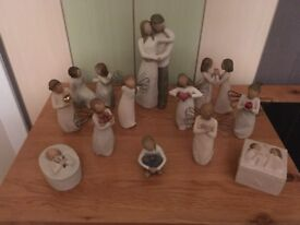 Collection of Willow Tree ornaments