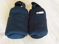 Tommee Tippee Insulated Thermal Travel Bottle Carriers Warmer Bags X 2 - great condition