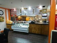 well established take away restaurant i Caerphilly for sale in town centre