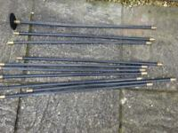 drain clearing rods and pair of garden shears