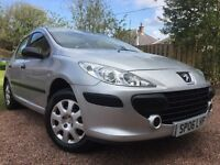 *12 MONTHS WARRANTY*10 MONTHS MOT*ONLY 47K*(FACELIFT)2006(06)PEUGEOT 307 1.4 5DR HATCH-VGC ALL ROUND