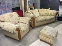 Settee, Chair and Foot Rest/Storage Box