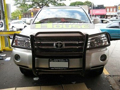 Full Grill Guard (Black 1 Piece Full Grille Guard Front Bumper Protector for 2008-2010 Highlander  )