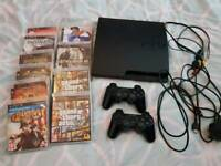 Ps3 slim console with 10 games