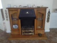 Electric fire and surround.