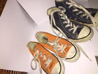 Converse size 12.5 and 13.5