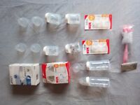 NUK First Choice+ and Avent bottles, as new and unused