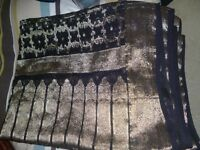 sari black and gold