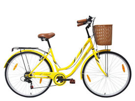 Vintage Style Adults Cycle - Yellow (Like New)