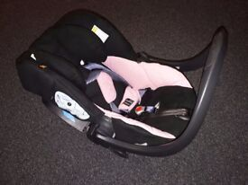 This is a very strong and top quality baby car seat. Brand: izi sleep (BeSafe)