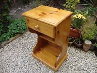 "Solid Pine,Single Drawer,Bedside Cabinet.27.5"" tall."