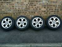 Genuine Ford C-max alloy wheels with new tyres