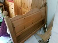 King size bed, pine