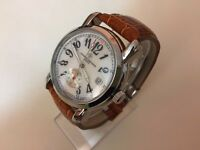 New VACHERON CONSTANTINE Pearl Face Automatic Watch, Leather Strap