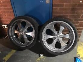 4 * Alloys Wheels with tyres. 24'