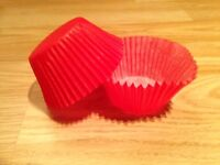 450x (Pack of 450) Standard Size Cup Cake Liners ¦¦ Plain Red Round Case