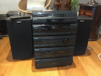Sony LBT-N350 Compact HiFi System with separate Record Turntable and Speakers (faulty CD!)