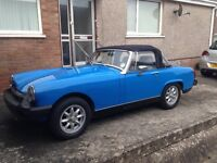 Immaculate MG Midget for sale, 11 months MOT. Much loved but change of circumstances forces sale