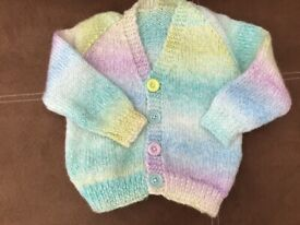 "Hand knitted Cardigan for 20"" chest"