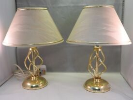 A pair of tablelamps