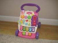 VTech baby walker, in pink