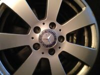 Genuine Mercedes alloys with part worn tyres