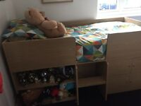 Next Cabin Bed with underneath den