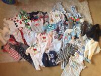 Boys bundle of clothes 0-3 months
