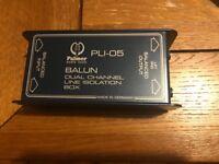 Palmer Audio Tools PLI-05 Balun Line Isolation Box 2 Channel