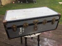 Vintage trunk storage chest