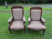 Grandfather And Grandmother Armchairs