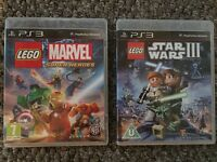 PS3 Lego Marvel Super Heroes and Lego Star Wars 3 games