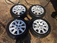 Ford Fiesta alloy rims and four good Tyres