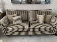 Sofa X2 4 seater fabric sofa with large chair £800