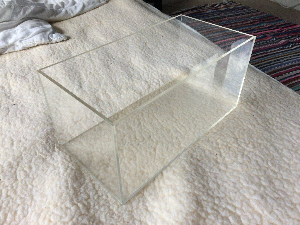 Transparent perspex storage boxes x 4